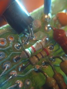 Detalle de transistor