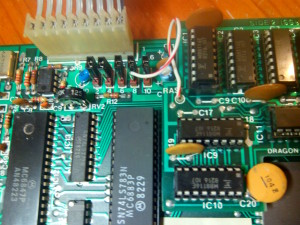 Detalle de jumpers de configuración de memoria RAM
