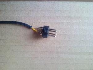 Soldadura de cable a conector DIN