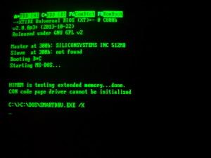 Detalle de arranque con BIOS XTIDE