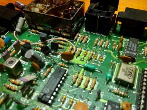 Detalle de colocación de transistor