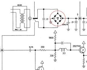Esquema de circuito de alimentación