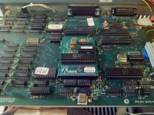 Detalle de placa Advent con CPU Z80B