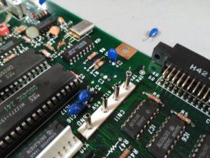 Condensador C3 de tántalo retirado