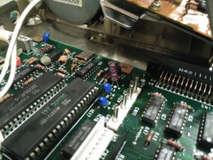 Instalación de condensador electrolítico en C3