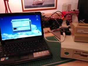 Conexión con disqueteras externas