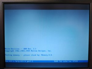 Salida de terminal, diagnóstico de memoria RAM