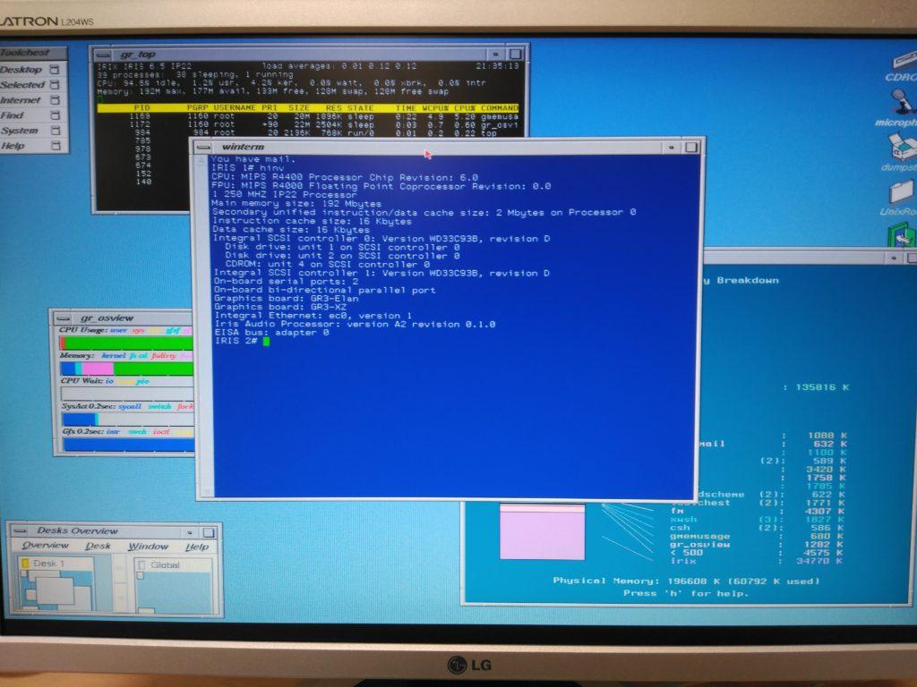 Inventario de hardware (hinv)