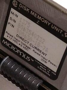 Detalle de disco duro Micropolis